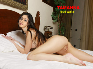 Tamanna Nude Showing her Boobs n Pussy on Bed [Fake]