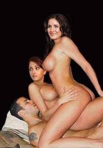 Katrina Kaif & Aishwarya Rai Nude Enjoying Thressome Fucking [Fake]