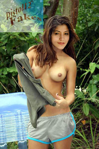 Anushka Sharma Nude in Jungle Showing her Boobs [Fake]